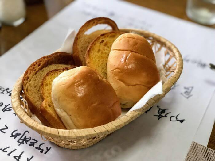 ペンションの朝ごはんのパン