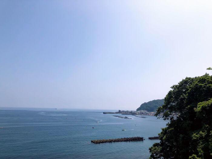 小山臨海公園の展望台からの景色